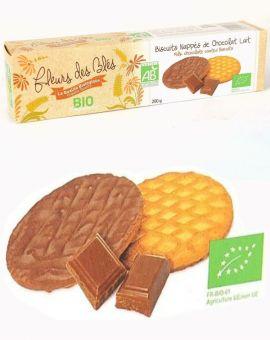 Biscuiti BIO cu lapte si ciocolata 200G