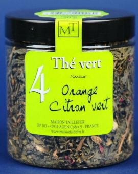 Ceai verde aromatizat portocale lime 70G