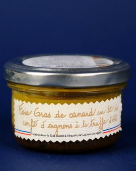 Delice Foie Gras pe pat confit de ceapa/trufe 70G