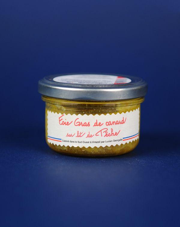 Delice Foie Gras pe pat de Piersici 70G