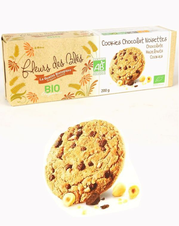Cookies BIO cu ciocolata  si alune 200G